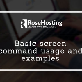 Basic screen command usage and examples